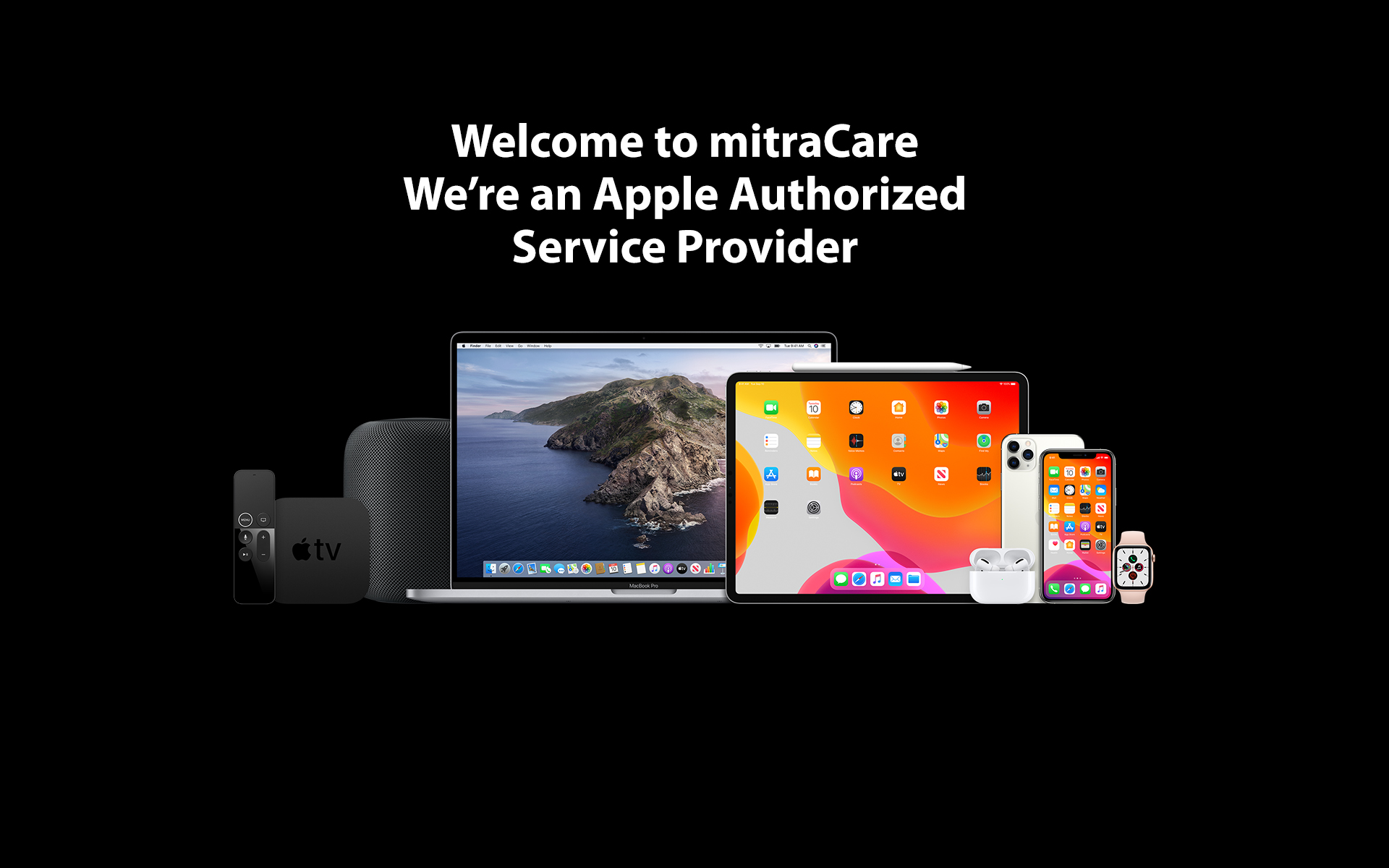 We're an Apple Authorized Service Provider